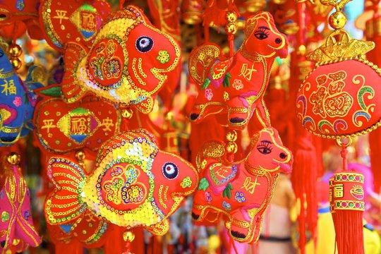 Chinese New Year decorations, Hong Kong, China