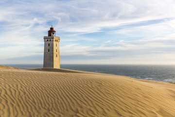 Rubjerg Knude lighthouse buried in sands on the coast of the North Sea