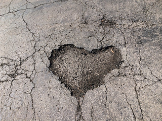heart shaped pothole