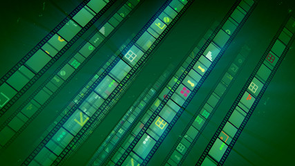 Showy Green Vintage Movie Tape