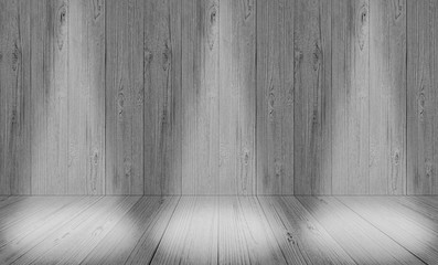 soft gray studio room background, grey floor backdrop with spotlight wood