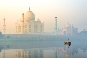 Indian Palace Taj Mahal At Sunrise