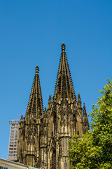 Cologne Cathedral Towers and blue sky