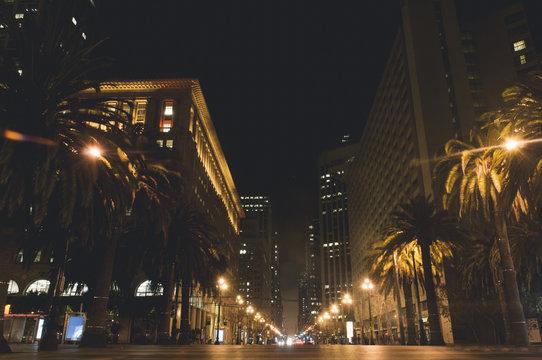 San Francisco's Market Street at Night
