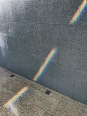 Rainbow on the wall. Everyday magic.