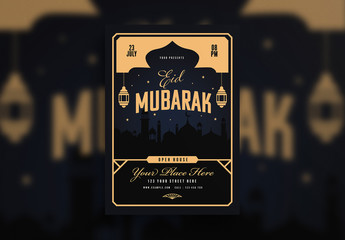 Eid Mubarak Flyer Layout
