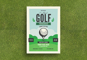 Golf Tournament Flyer Layout