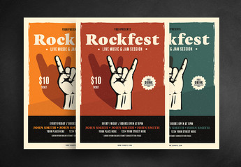 Rock Concert Flyer Layout