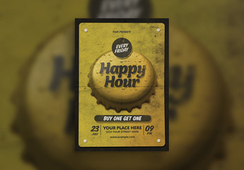 Happy Hour Flyer Layout