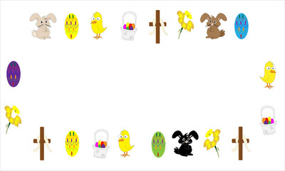 Easter illustrated frame