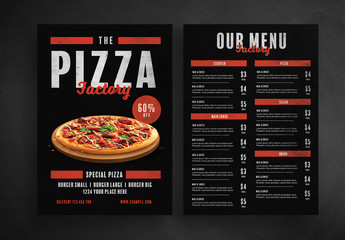 Pizza Menu Layout