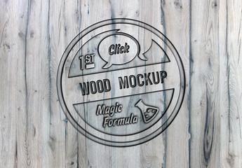 Wood Logo Mockup