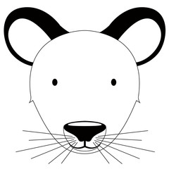 Isolated cute mouse avatar