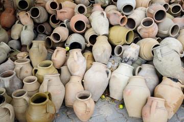 old Turkish clay jugs