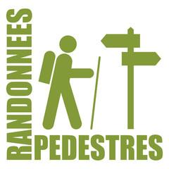 Logo randonnées pédestres.