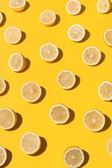 Halved lemons background