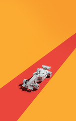 Racing car/composition/movement.