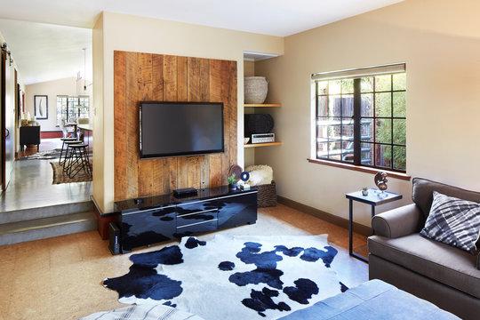 TV / Media room in house in California