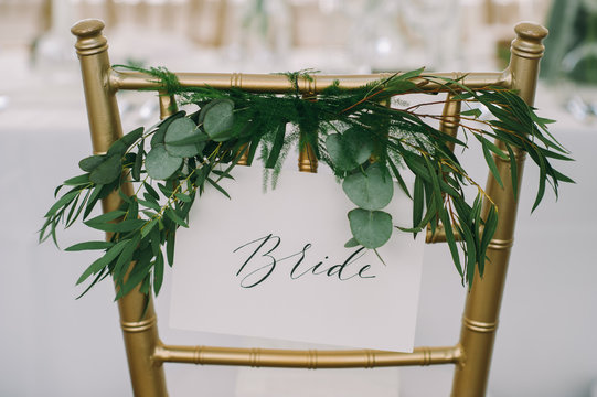 Bride and Groom Wedding Chair Signs, Wedding signs, Chair signs