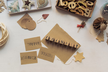 Christmas  Decoration And Cards With Stamps