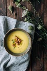 Delicious creamy soup