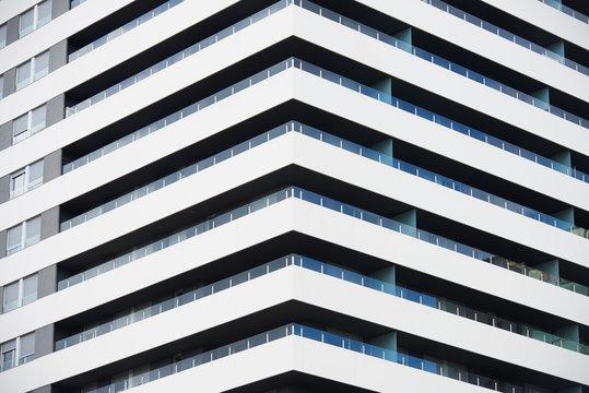 Pattern of balconies.