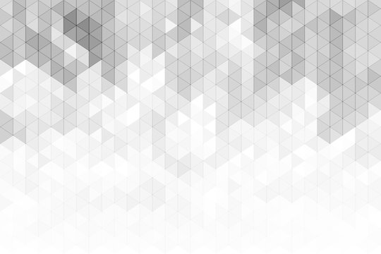 Abstract geometric background with grey and white color tone triangle shapes.