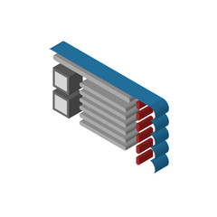Ticket isometric right top view 3D icon