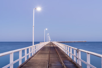 Long pier jetty at dawn