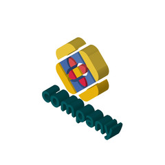 free isometric right top view 3D icon