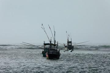 Fischerboote in Sri Lanka