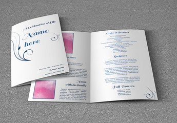 Funeral Program Bi-Fold Layout