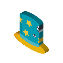 Hat isometric right top view 3D icon