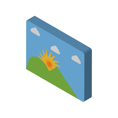Photo isometric right top view 3D icon