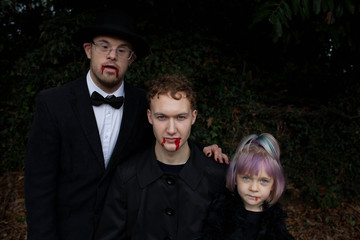 Portrait of a vampire family.