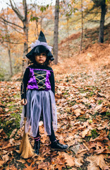 Little girl in Halloween