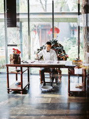 Man working in traditional office