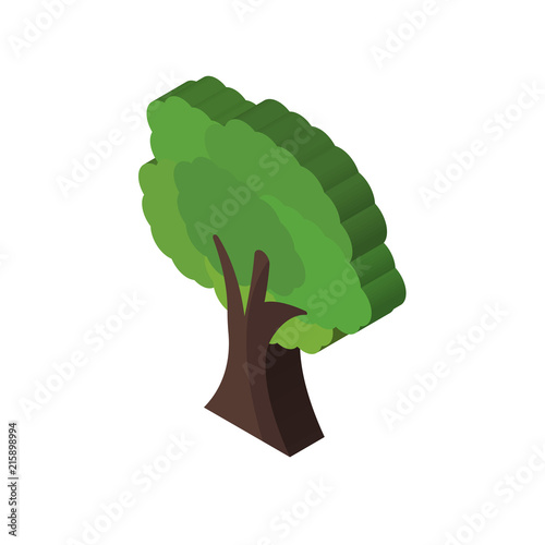 Tree isometric right top view 3D icon