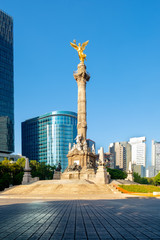 Poster Mexico The Angel of Independence at Paseo de la Reforma in Mexico City