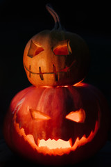 Pumpkin lanterns for Halloween