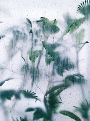 Exotic plants abstract pattern