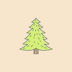 Pine field outline icon. Element of outdoor recreation icon for mobile concept and web apps. Field outline Pine icon can be used for web and mobile