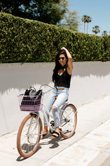 bicycle ride in the summer