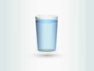 A full glass of water or soft drinks for business vector illustration