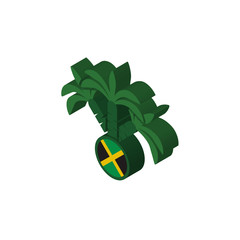 jamaican isometric right top view 3D icon