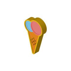 icecream isometric right top view 3D icon