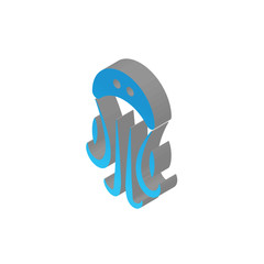 jellyfish isometric right top view 3D icon