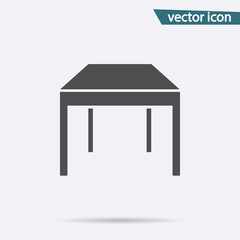 Gray table icon isolated on background. Modern flat pictogram, business, marketing, internet concept