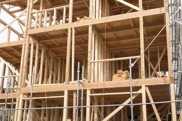 木造3階建て住宅、現場イメージ