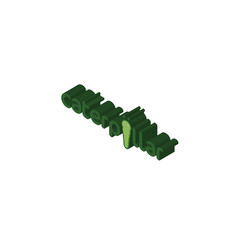 caterpillar isometric right top view 3D icon